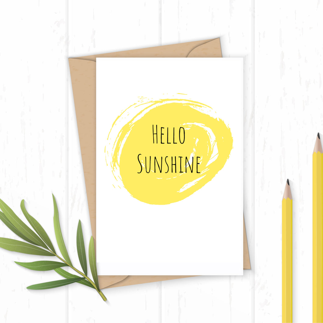 Hello Sunshine - Greetings Card
