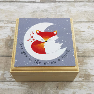 Fox Jewellery Box - I Love You To The Moon & Back