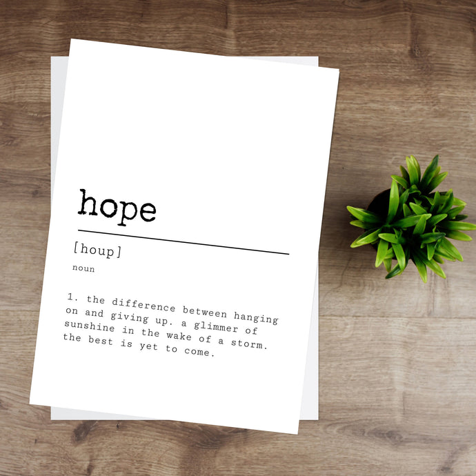 Hope Definition Print