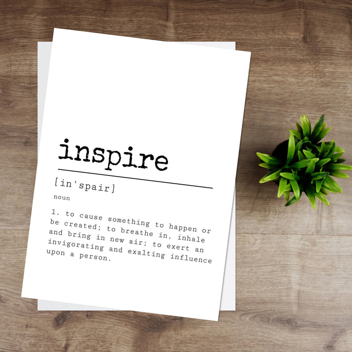 Inspire Definition Print