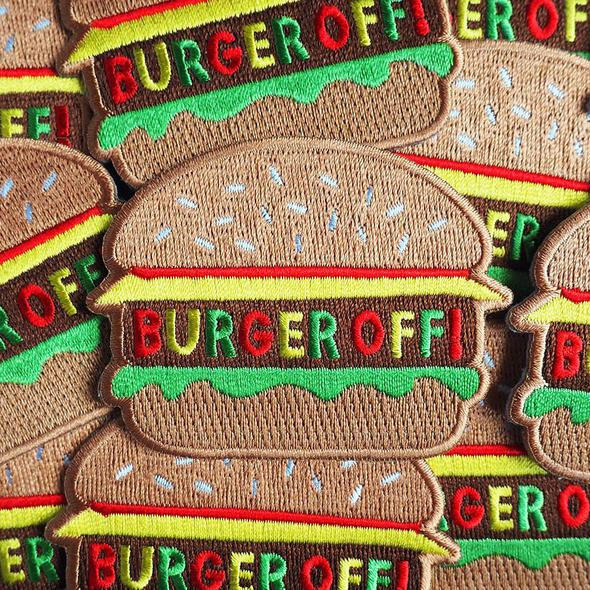 Burger Off Iron On Patch