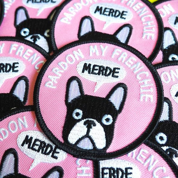Pardon My Frenchie Iron On Patch