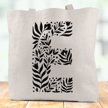 Load image into Gallery viewer, Personalised Initial Linen Tote Bag