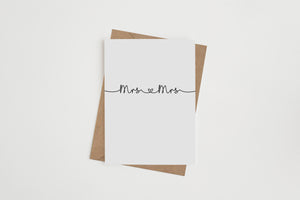Mrs & Mrs Greetings Card