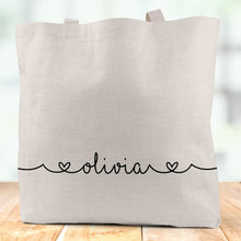 Load image into Gallery viewer, Personalised Linen Tote Bag