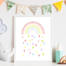 Load image into Gallery viewer, Raining Rainbow Love Print