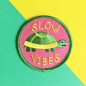Slow Vibes Iron On Patch