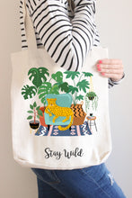 Load image into Gallery viewer, Stay Wild Linen Tote Bag