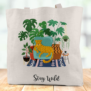 Stay Wild Linen Tote Bag