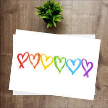 Load image into Gallery viewer, Rainbow Hearts Print - LGBT Quotes - Pride Equality Print - Pride Rainbow Print