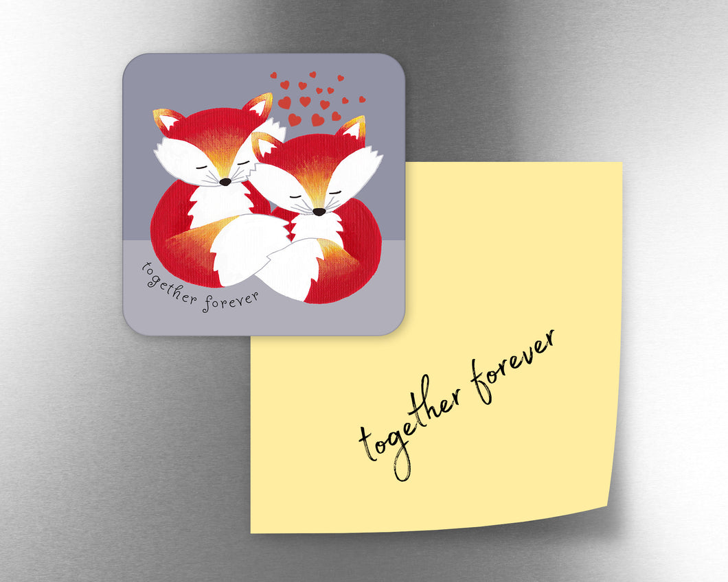 Together Forever Fox Fridge Magnet