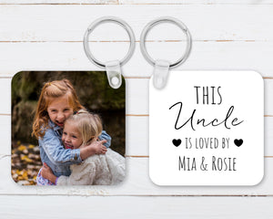 This Uncle Is Loved Personalised Keyring