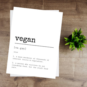 Vegan Definition Print
