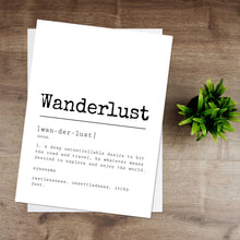 Load image into Gallery viewer, Wanderlust Definition Print
