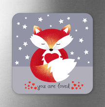 Load image into Gallery viewer, You Are Loved Fox Fridge Magnet
