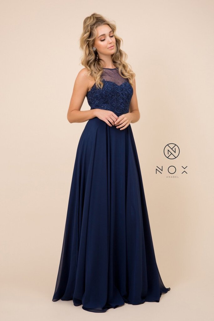 Chiffon High Illusion Neckline
