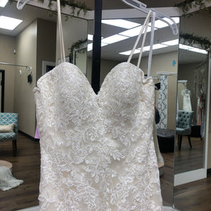 Ivory lace with spaghetti straps
