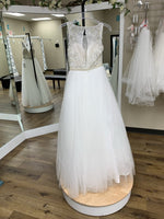 Load image into Gallery viewer, Sheer Tulle Beaded Ballgown