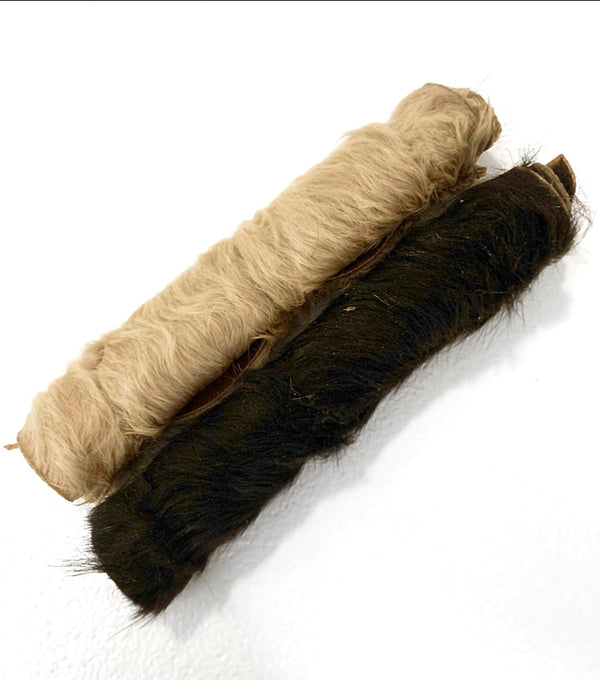 All-Natural Rawhide Rolls with HAIR
