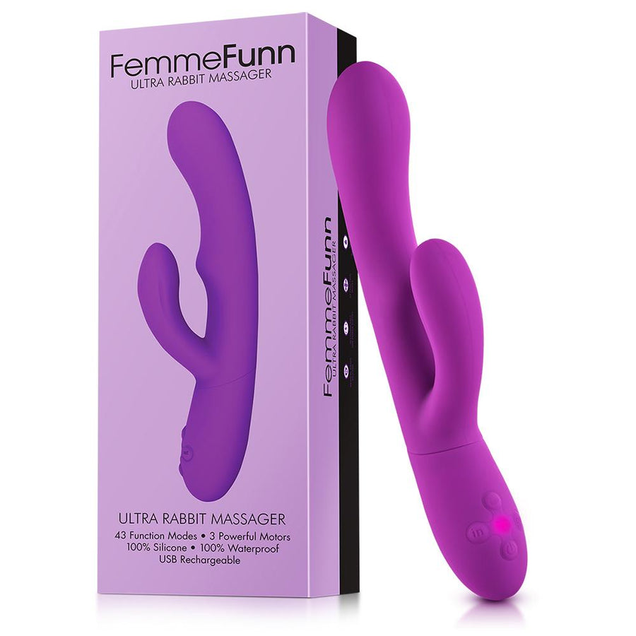 FEMME FUN ULTRA RABBIT PURPLE CLITORAL FEMALE VIBRATOR
