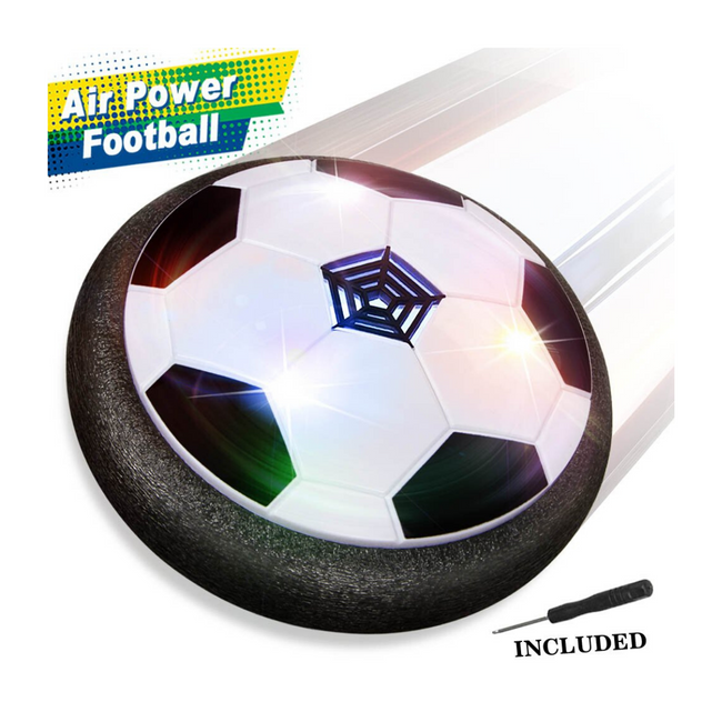 Air Powered Voetbal - Hover Soccer - Gekleurde LED Lichten - Zoblo.be