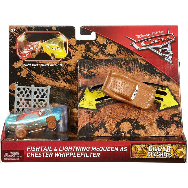 Disney Cars Fishtail & Lightning McQueen Crazy 8 Crashers - Zoblo.be