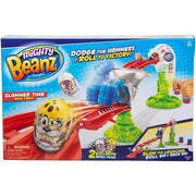 Mighty Beanz Slammer Time Race Track - Slaag op de Launcher - Zoblo.be
