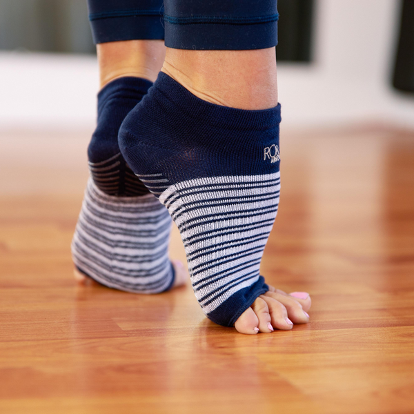 Navy Blue Stripes - Rhiannon Low Show Grip Sock