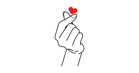 korean heart hand sign
