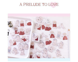 A Prelude to Love Japanese Stickers - Part 1 (46 pc)-UwU Things