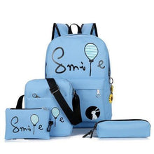 Load image into Gallery viewer, All inclusive Colour Accented Durable Backpack Set (4 pc)-UwU Things