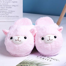 Load image into Gallery viewer, Alpaca Cotton Slippers-UwU Things-Pink-38-UwU Things