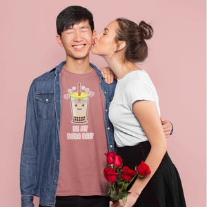 """Be My Boba Bae"" Unisex T-Shirt-Apparel-Fuel-Mauve-XS-UwU Things"