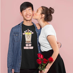 """Be My Boba Bae"" Unisex T-Shirt-Apparel-Fuel-Solid Black Blender-XS-UwU Things"