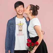 "Load image into Gallery viewer, ""Be My Boba Bae"" Unisex T-Shirt-Apparel-Fuel-Solid White Blender-XS-UwU Things"