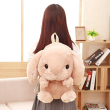 Load image into Gallery viewer, Bunny Plush Backpack-UwU Things-Pink-UwU Things