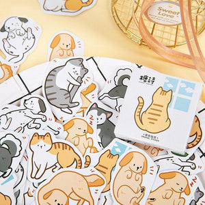 Cat & Dog Stickers (45 pc)-UwU Things-UwU Things