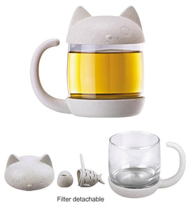 Cat & Fish Tea Infuser-UwU Things