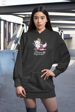Load image into Gallery viewer, Cat Queen Ultra Soft Hoodie-Apparel-Fuel-Black-S-UwU Things