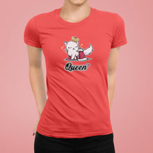 Load image into Gallery viewer, Cat Queen Unisex T-Shirt-Apparel-Fuel-Coral-XS-UwU Things