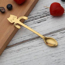 Load image into Gallery viewer, Charming Cat Stainless Steel Teaspoons-UwU Things