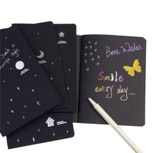 Load image into Gallery viewer, Chic Black Paper Sketch Book-UwU Things