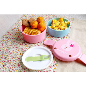 Cute Animal Japanese Double-Layer Lunch Box-UwU Things