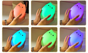 Cute Cat Night Light (USB Rechargeable)-UwU Things