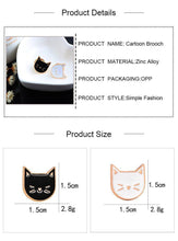 Load image into Gallery viewer, Cute Cat Pins (2 Pieces)-UwU Things