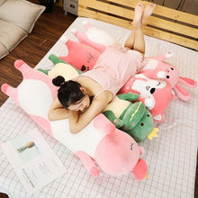Load image into Gallery viewer, Cute Variety Animal Long Body Pillows-UwU Things-70CM (26 inches)-Green Dinosaur-UwU Things