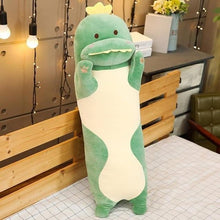 Load image into Gallery viewer, Cute Variety Animal Long Body Pillows-UwU Things-120CM (47 inches)-Green Dinosaur-UwU Things