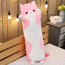 Load image into Gallery viewer, Cute Variety Animal Long Body Pillows-UwU Things-120CM (47 inches)-Pink Cat-UwU Things