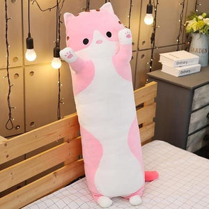 Cute Variety Animal Long Body Pillows-UwU Things-120CM (47 inches)-Pink Cat-UwU Things