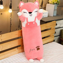 Load image into Gallery viewer, Cute Variety Animal Long Body Pillows-UwU Things-120CM (47 inches)-Pink Fox-UwU Things